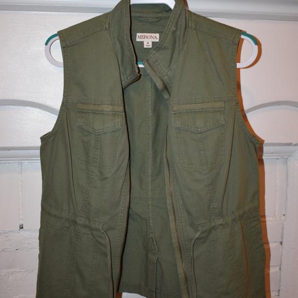 Merona Jackets & Blazers - Army Green Merona Utility Vest